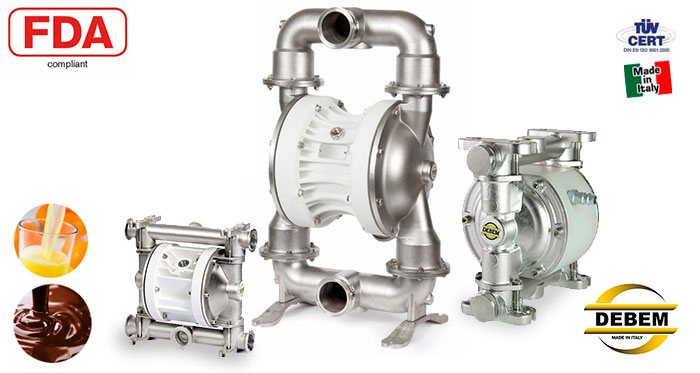DEBEM Food processing pumps