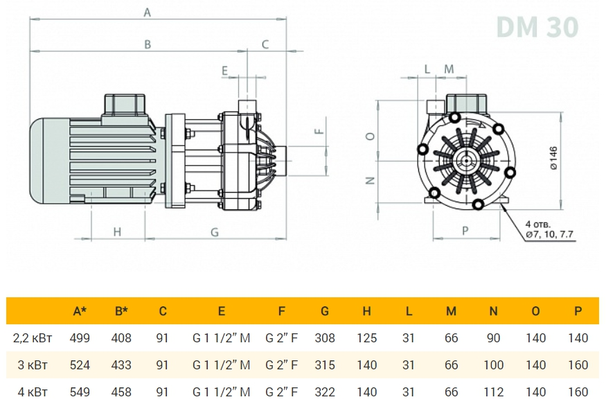 DM 30 Magnetic Drive Centrifugal Pumps